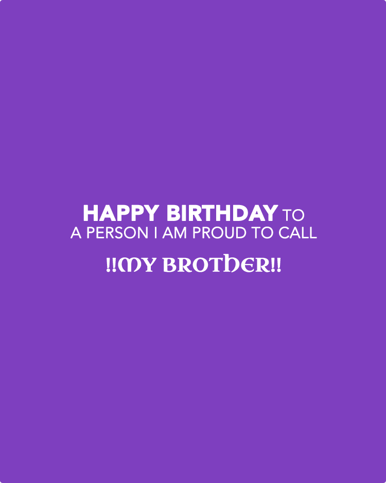 Brother Birthday Wishes Quotes