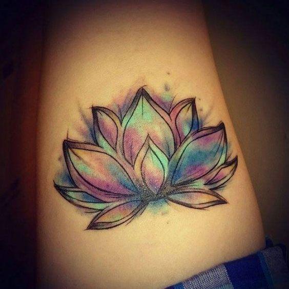 70 Pretty Lotus Flower Tattoo Designs