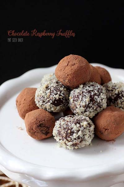 Chocolate Raspberry Truffles.