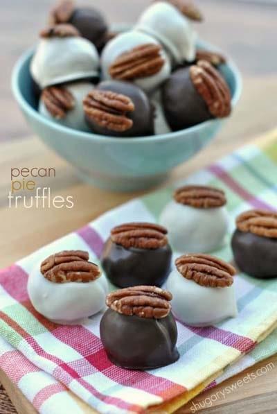Easy Pecan Pie Truffles.