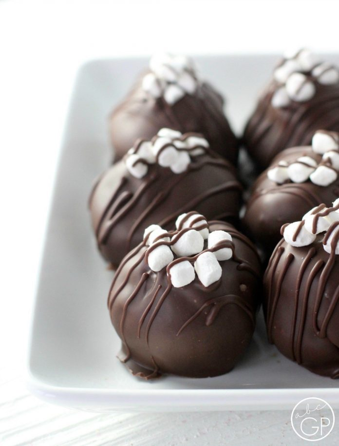 Hot Chocolate Cheesecake Truffles From ABCs and Garden Peas