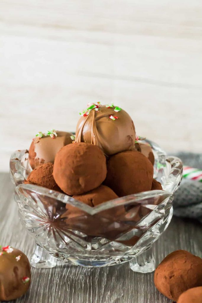 Peppermint Chocolate Truffles From Marsha's Baking Addiction