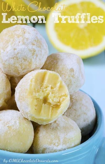 White Chocolate Lemon Truffles.