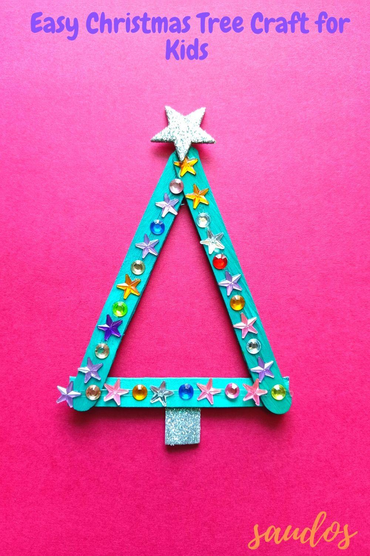 Popsicle Christmas Tree Craft Easy Christmas Tree Craft For Kids